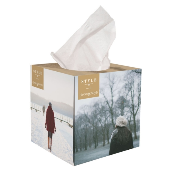 Tissue box gevuld met 100 2-laags tissues